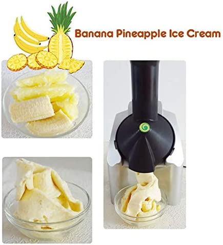Classic Original Healthy Dessert Fruit Soft Serve Maker,Portable Household Use Electronic Frozen Yogurt Machine with Countdown Timer, for Frozen Fruit Dessert Maker (1 Pack)
