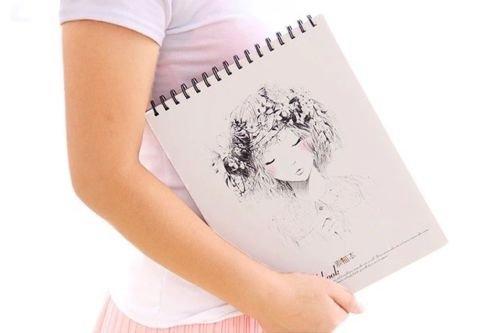 smartchef-long-hair-1pc-big-drawing-notebook-sketchbook-cute-art-notepad-journal-diary