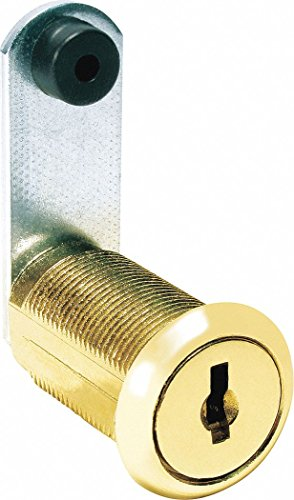 Alike-Keyed Standard Keyed Cam Lock Key # C390A, For Door Thickness (In.): 7/8, Bright Brass by COMPX NATIONAL