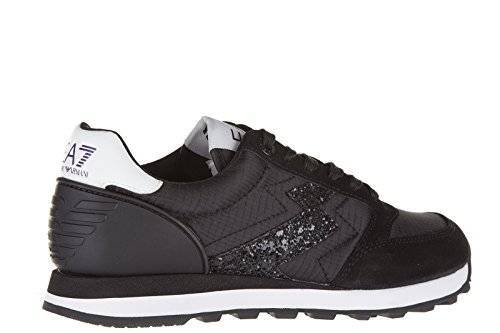 Emporio Armani EA7 chaussures baskets sneakers femme heritage running noir