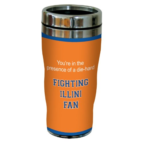 Acrylic Fighting Illini Football (Tree-Free Greetings sg24456 Fighting Illini College Football Fan Sip 'N Go Stainless Steel Lined Travel Tumbler, 16-Ounce)