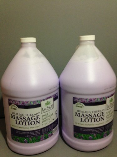 2 Gallons Packet Lavender Healing Therapy Massage Lotion by La Palm