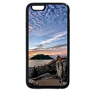 iPhone 6S / iPhone 6 Case (Black) superb sunset on island shore