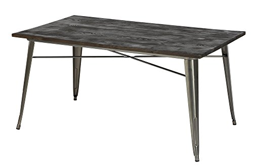 DHP Fusion Rectangular Dining Table, Antique Gun (Contemporary Dining Accessories)