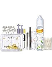 مجموعة التنظيف GoldendealsUAE تحتوي على خلاصة الليمون قطن وملقط وقطع مضادة للقلب ووسادة شفط وشفرة مكشطة متوافقة مع IQOS (مجموعة تنظيف)