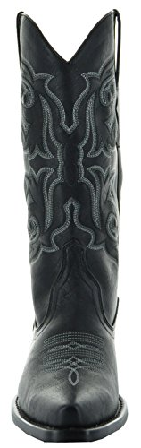 Country Love Pointed Toe Women's Cowboy Boots W101-1001 (7, Black) by Country Love Boots (Image #3)