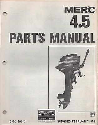 FEBRUARY 1979 MERCURY OUTBOARD MERC 4.5 C-90-69972 PARTS MANUAL (806)