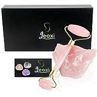jeoxi cuerpo rodillo para masaje facial masajeador de rodillo de jade natural cuarzo rosa Adelgazamiento Herramienta