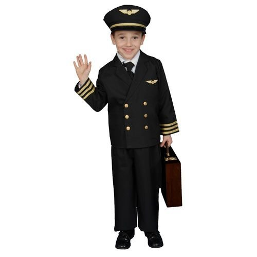 Airline Pilot w/ Jacket Child Costume Size 8-10 (Airline Pilot Costume For Kids)
