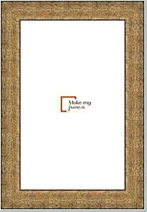 9x12 Inch Photo / Picture Frame in Champagne Gold finish. For framing Documents, photos, Artwork, K319 Series - 1.22 inch wide moulding