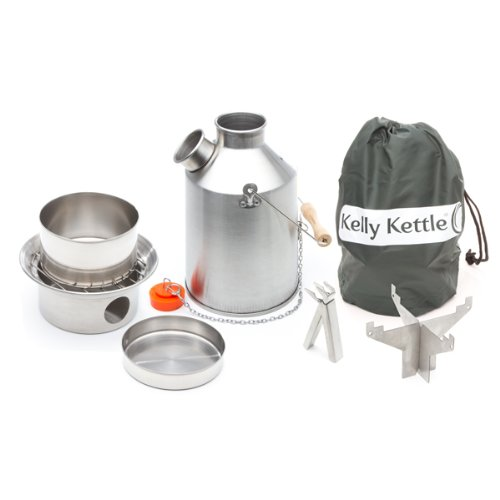 Kelly Kettle Stainless Steel Medium Scout Basic Camp Stove Kit