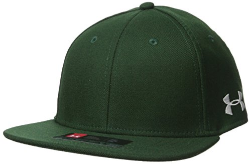 Under Armour Men's Flat str Baseball Cap, Forest Green (301)/White, Large/X-Large