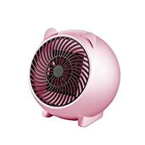 Decdeal 250W Mini Space Heater Portable Winter Warmer Fan Personal Overheat Protection Electric Heater for Home and Office Ceramic Small Heaters
