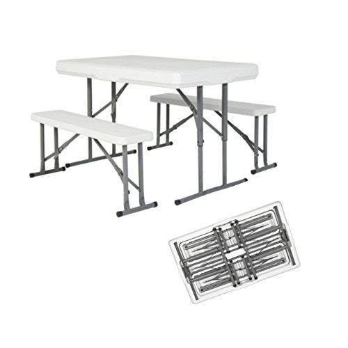 Portable Folding Table & Benches Indoor Outdoor Picnic Party Home Kitchen Dining Furniture Set # - Glasses Frame Half Singapore