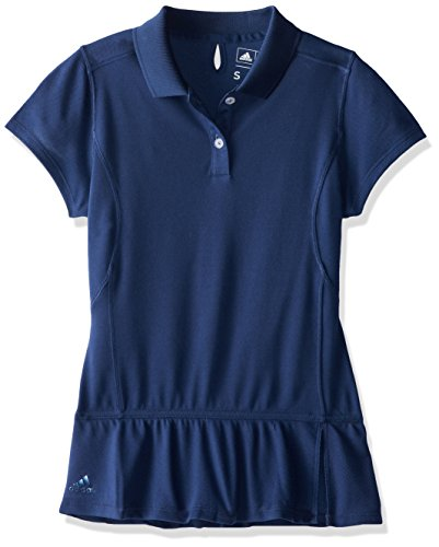 Adidas Climalite Polo Pique - adidas Golf Girl's Climalite Advance Pique S/S Polo (Big Kids), Midnight Ink X-Large