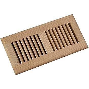 Welland 4x10 White Oak Wood Self Rimming Floor Register