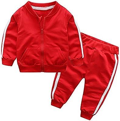2PCS Unisex Tracksuit Baby Boys Girls Long Sleeve Sweatsuit Tops+Pants Spring Autumn Outfit Set