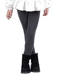 Girls Winter Cotton Melange Fleece Lined Warm Velvet Leggings