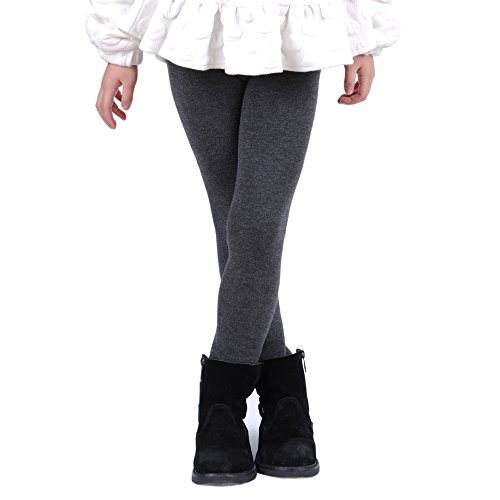 Innabella Girls Winter Cotton Melange Fleece Lined Warm Velvet Leggings (4-6 Years, Melange ()