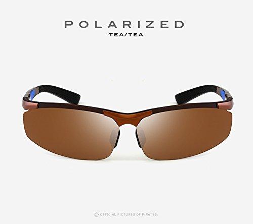 Aluminio magnesio Deportes Pesca Nocturna Gafas Hombres de de Gafas de Sol Gafas para 3 Color Adultos Gafas para de Sol de Marco MXNET visión de polarizados UV400 sin 4 Sol conducción de zRTcPfWzn
