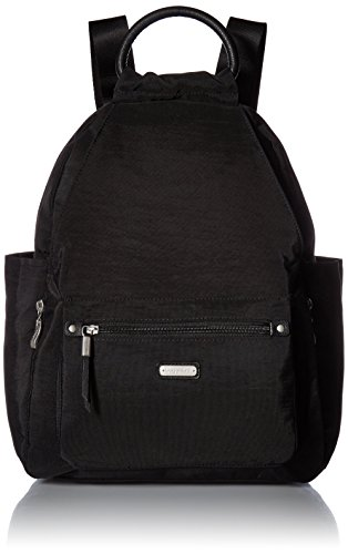 """Baggallini New Classic""""Heritage"""" All Day Backpack with RFID Phone Wristlet Black One Size"""