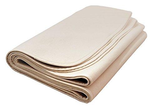 Natural Mat Flannelette Organic Crib Mattress Protector Pad