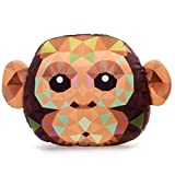 Fiesta Toys Crystal Critters Animals-12 Monkey Head Plush Pillow