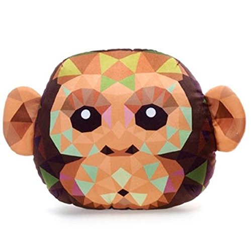 Fiesta Toys Crystal Critters Animals-12 Monkey Head Plush Pillow