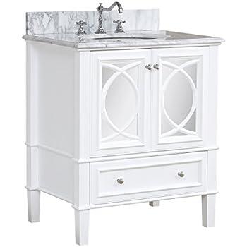 Olivia Inch Bathroom Vanity CarraraWhite Includes Italian - 41 inch bathroom vanity