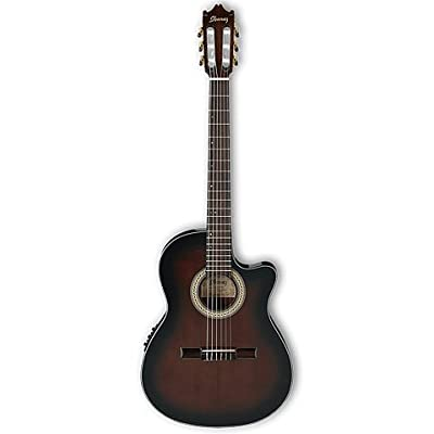 Ibanez GA35TCEDVS Full Sized Thinline Acoustic Electric Classical Guitar, Dark Violin Sunburst by Hoshino USA