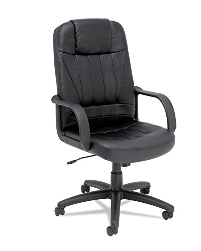 Alera Sparis Executive High-Back Swivel/Tilt Chair, Leather, Black by Alera
