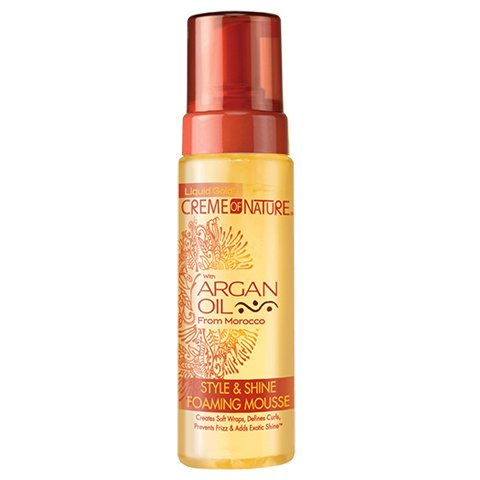 Creme of Nature with Argan Oil Style & Shine Foaming Mousse 7 fl.oz