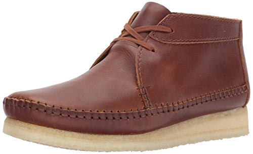 CLARKS Men's Weaver Chukka Boot, tan Leather, 7 Medium US