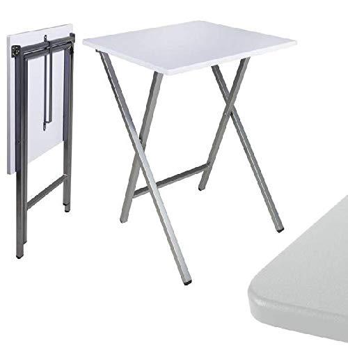 dcasa - Mesa cuadrado plegable blanca 48x48x65