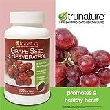 Trunature Grape Seed & Resveratrol 300 Softgels (Pack of 2)