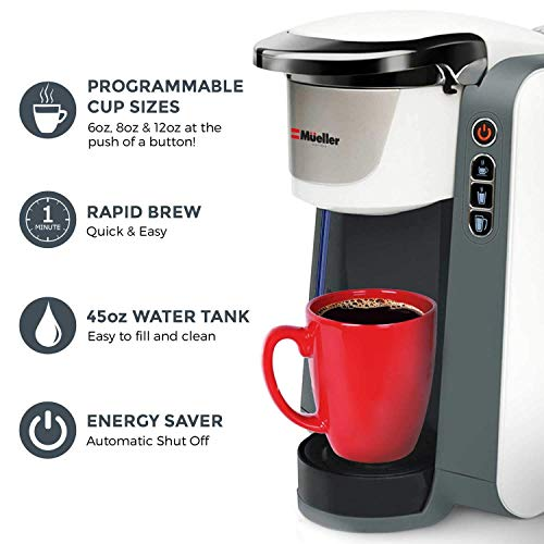 Mueller Ultima Single Serve K Cup Coffee Maker Coffee Machine With