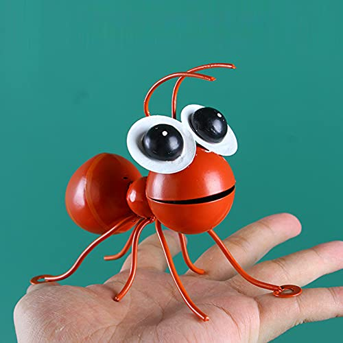 Metal Wall Art Ants 3D Sculpture,Colorful Metal Ant Wall Decor Set Hanging for Indoor and Outdoor, Outdoor Garden for Home, Living Room, Patio, Office (Green+Red)