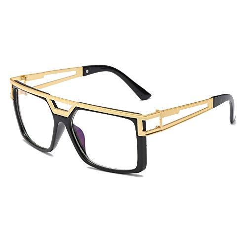 con Vision hombre Transparente Lens Gafas Lente mujer Eye Gradient sol para para de de hombre marca wayfarer estuche negra Cuadrado Wear diseño Day Unisex 1HAFvqgww