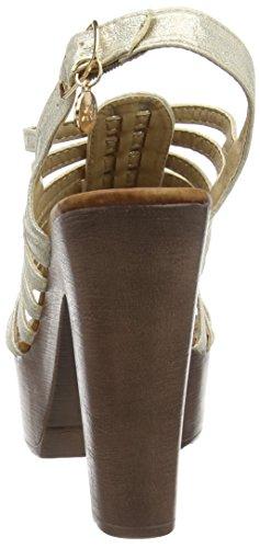 SRA Or Plateforme Sandalia Oro Xti Femme Oro Sandales Metalizado P54SwqU