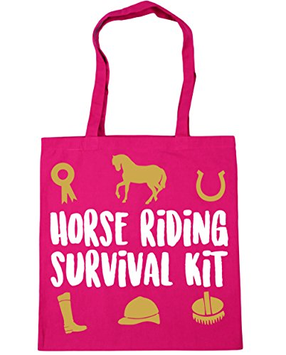 Shopping survival Fuchsia Gym riding Horse litres 10 Bag HippoWarehouse Tote kit 42cm Beach x38cm Cp1EXqOw