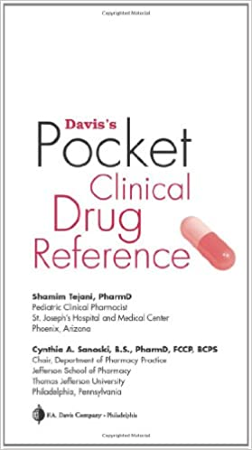 Download online Davis's Pocket Clinical Drug Reference PDF, azw (Kindle)