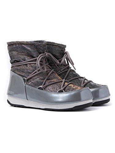 W Lurex grigio Para argento Boot e Mujer Gris Low Nieve 002 Moon De Botas 1I5q7P88w