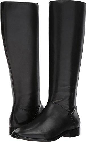 Donna Karan Women's Lee Knee-High Boot Black Smooth Oil Calf 6.5 M US