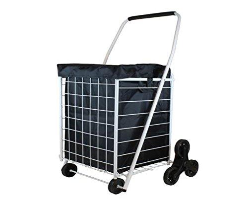 Helping Hand 3 Wheel Stair Climber Bundle Cart Grip Foam Handle - Lightweight - 41.5 H x 21.25 W x 4.0 D