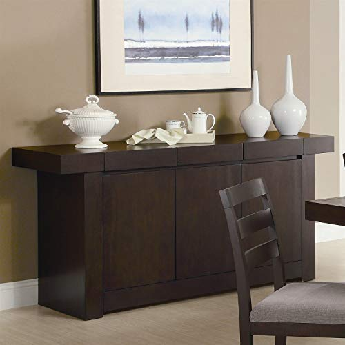 StarSun Depot Modern Dining Room Sideboard Server Table Cabinet in Cappuccino from StarSun Depot