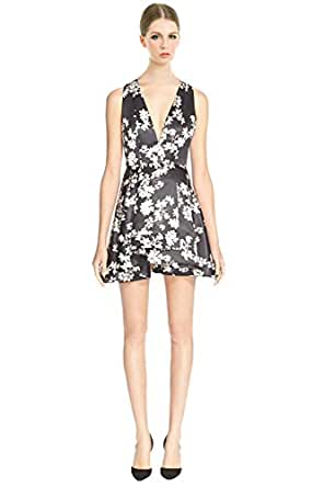 Alice & Olivia Tanner Floral Print Layered Ruffle Fit & Flare Cocktail Dress