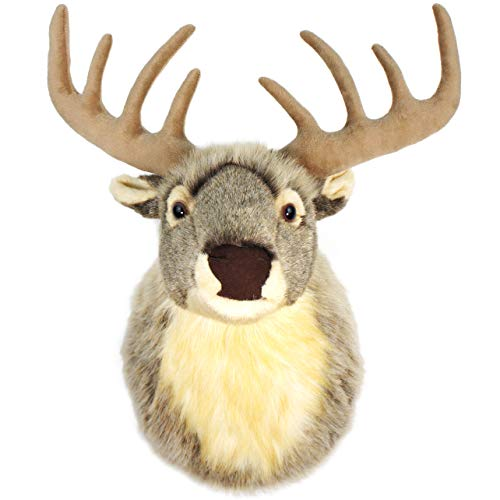 (VIAHART Eldritch The Elk | 24 Inch Stag (with Antlers) Stuffed Animal Plush Deer Head Trophy Wall Mount Buck Bust | Shipping from Texas | by Tiger Tale Toys)