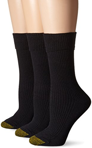 Gold Toe Wool Socks - Gold Toe Women's Camden Crew 3 Pack, Black, 6-9