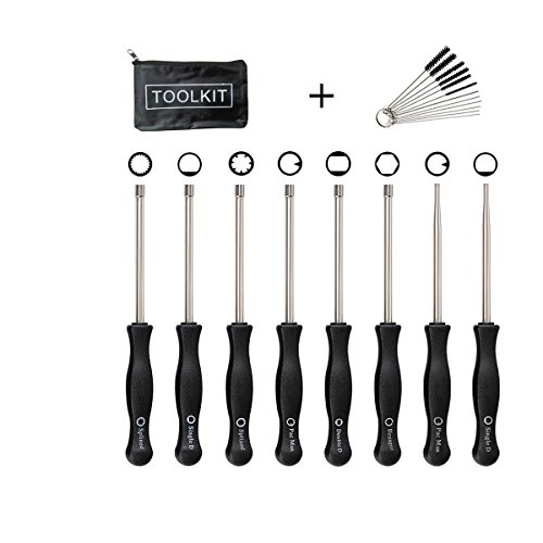 EONBES Carburetor Adjustment Tool Set with Kit Bag for 2 Cycle Small Engine, Set of 8