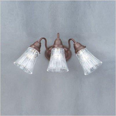 - Thomas Lighting SL7213-81 Mix and Match Glass - Three Light Bath Fixture, Tile Bronze Finish Glass